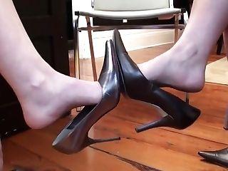 Sexy Three-ways Footsie At Work