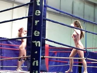 Cathy Heaven And Ivana Sugar Fight And Flash It All