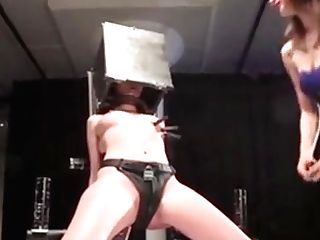 Bondage & Discipline Lesbo Domination Dom Drops Candle Paraffin Wax On Sub