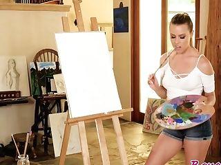 Aubrey Sinclair , Elena Koshka In Painting Her Labia