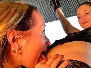 Cock-squeezing Up By Mistress Noir