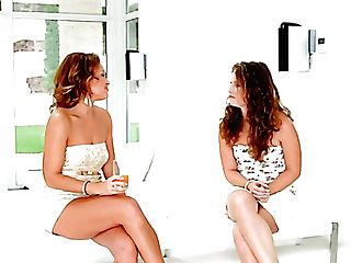Awesome Girly-girl Scissoring Is What Sylvia Laurent And Bunny Honey Desire To Love