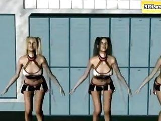 Hot Cheerleaders Have Intercourse In Locker Room