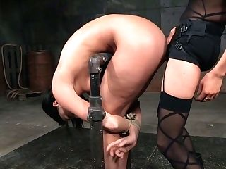 Perverted Mistress Penalizes Ass Fucking Slot Of Bitchy Tied Up Bitch London Sea