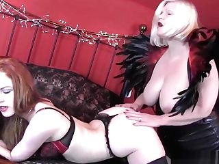 Gilf With Big Tits Licks And Frigs Foxy Youthful Red-haired