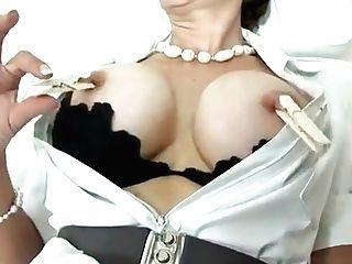 Unfaithful Brit Matures Lady Sonia Exposes Her Massive Tit