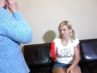 Oldnanny Granny And Teenage Masturbate With Sextoy