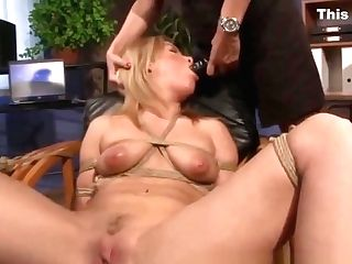 Lesbo Domination Using Faux-cock On Her Roped Sapphic Subject
